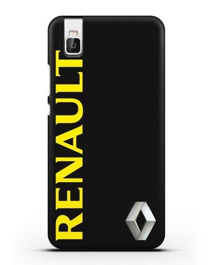 Чехол с надписью Renault и логотипом силикон черный для Huawei Shot X