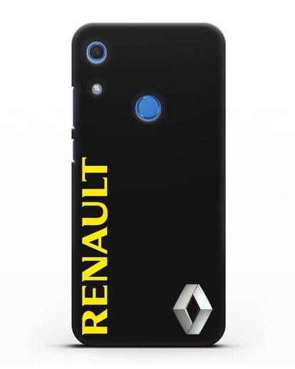 Чехол с надписью Renault и логотипом силикон черный для Huawei Y6s