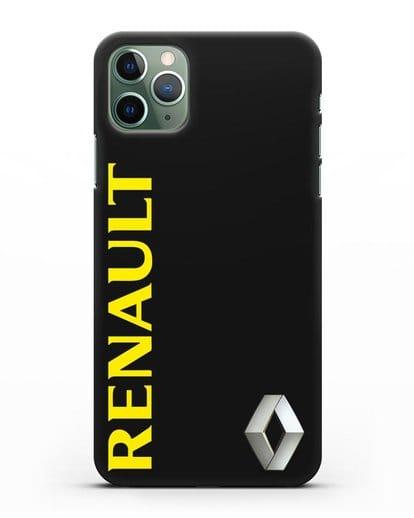 Чехол с надписью Renault и логотипом силикон черный для iPhone 11 Pro Max