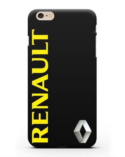 Чехол с надписью Renault и логотипом силикон черный для iPhone 6 Plus