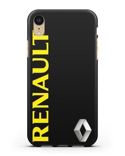 Чехол с надписью Renault и логотипом силикон черный для iPhone XR