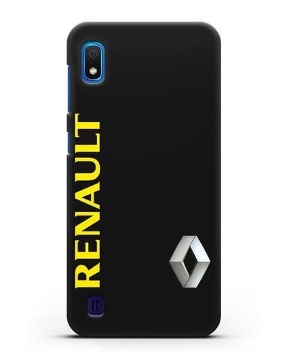 Чехол с надписью Renault и логотипом силикон черный для Samsung Galaxy A10 [SM-A105F]