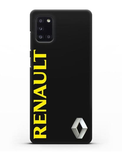 Чехол с надписью Renault и логотипом силикон черный для Samsung Galaxy A31 [SM-A315F]