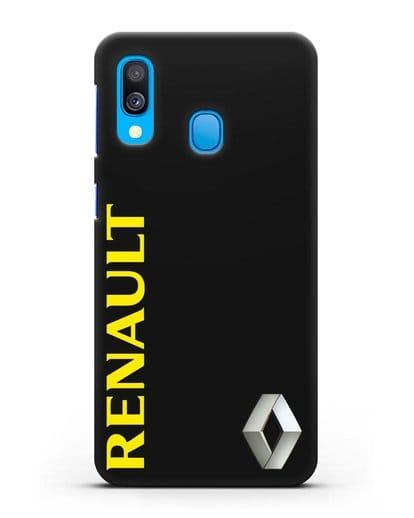 Чехол с надписью Renault и логотипом силикон черный для Samsung Galaxy A40 [SM-A405F]