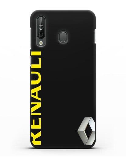 Чехол с надписью Renault и логотипом силикон черный для Samsung Galaxy A40s [SM-A507FN]