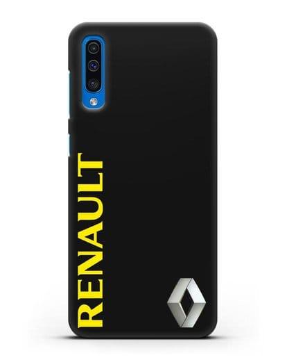 Чехол с надписью Renault и логотипом силикон черный для Samsung Galaxy A50 [SM-A505F]