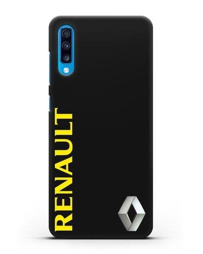 Чехол с надписью Renault и логотипом силикон черный для Samsung Galaxy A70 [SM-A705F]