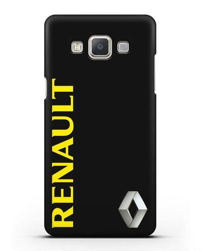 Чехол с надписью Renault и логотипом силикон черный для Samsung Galaxy A7 2015 [SM-A700F]