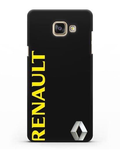 Чехол с надписью Renault и логотипом силикон черный для Samsung Galaxy A7 2016 [SM-A710F]