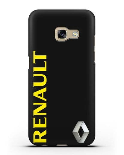 Чехол с надписью Renault и логотипом силикон черный для Samsung Galaxy A7 2017 [SM-A720F]