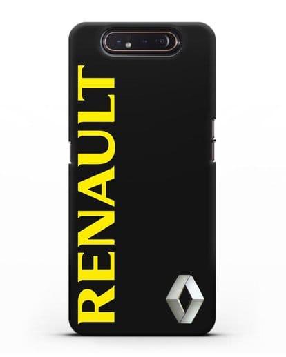 Чехол с надписью Renault и логотипом силикон черный для Samsung Galaxy A80 [SM-A805F]