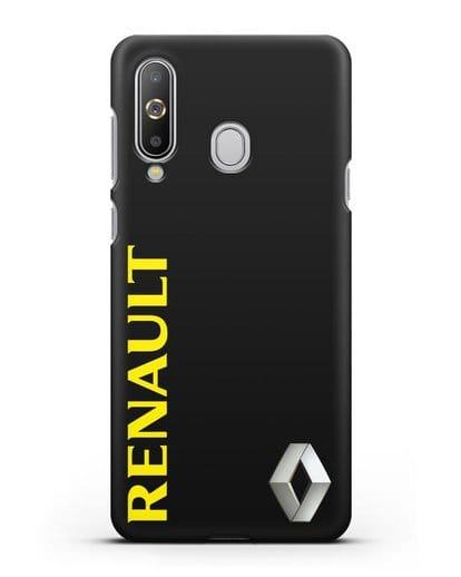 Чехол с надписью Renault и логотипом силикон черный для Samsung Galaxy A8s [SM-G8870]