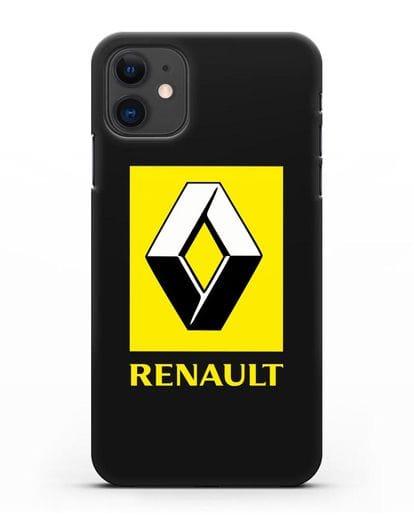Чехол с логотипом Renault силикон черный для iPhone 11