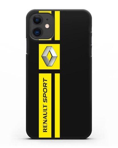 Чехол с надписью Renault Sport силикон черный для iPhone 11
