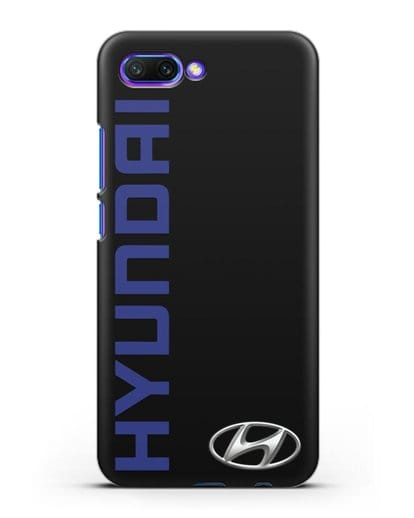 Чехол с надписью Hyundai и логотипом силикон черный для Honor 10