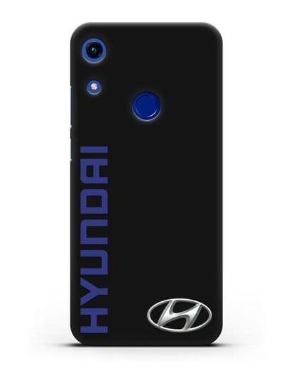 Чехол с надписью Hyundai и логотипом силикон черный для Honor 8A