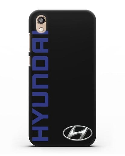 Чехол с надписью Hyundai и логотипом силикон черный для Honor 8S Prime