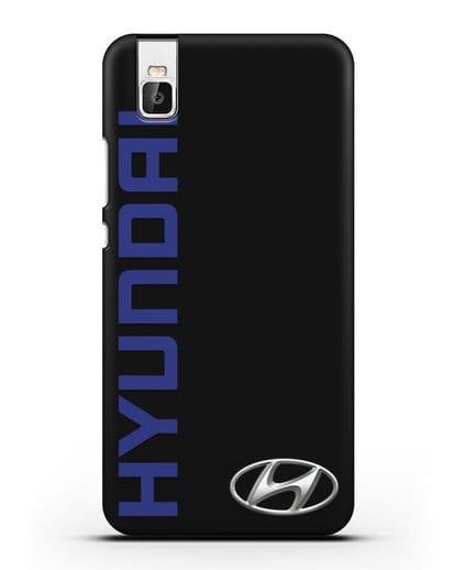 Чехол с надписью Hyundai и логотипом силикон черный для Huawei Shot X