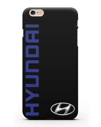 Чехол с надписью Hyundai и логотипом силикон черный для iPhone 6 Plus