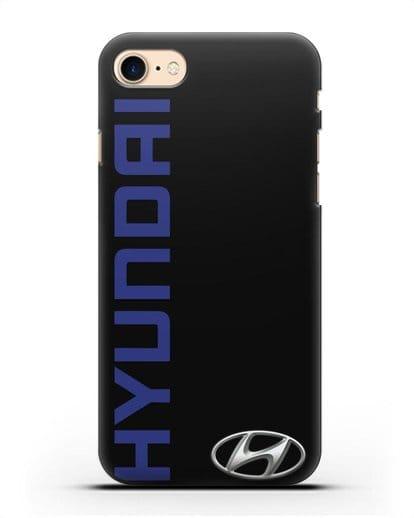 Чехол с надписью Hyundai и логотипом силикон черный для iPhone SE 2020
