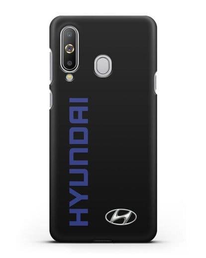 Чехол с надписью Hyundai и логотипом силикон черный для Samsung Galaxy A8s [SM-G8870]