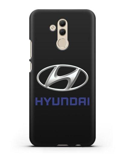 Чехол с логотипом Hyundai силикон черный для Huawei Mate 20 Lite