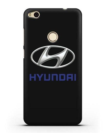 Чехол с логотипом Hyundai силикон черный для Huawei P8 Lite 2017