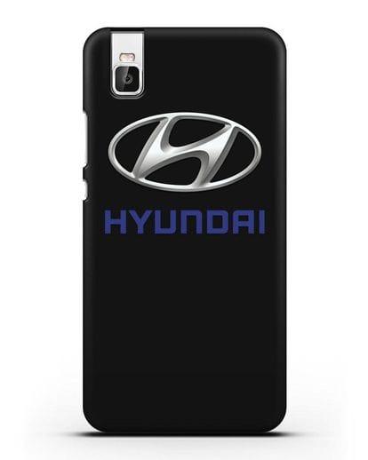 Чехол с логотипом Hyundai силикон черный для Huawei Shot X