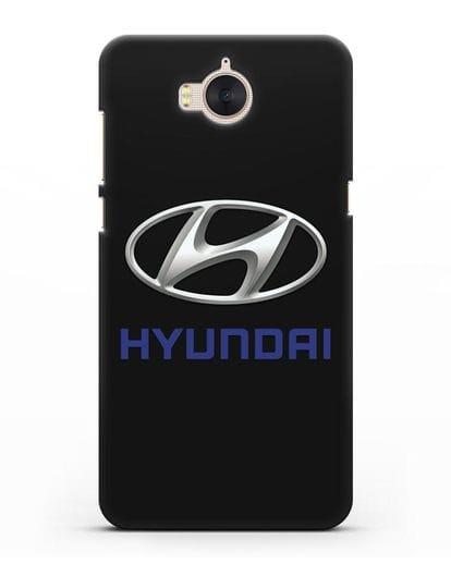 Чехол с логотипом Hyundai силикон черный для Huawei Y5 2017