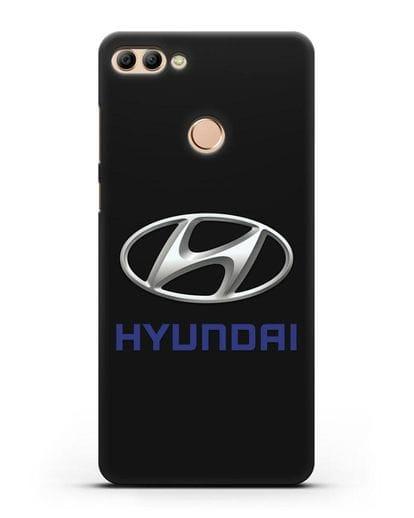 Чехол с логотипом Hyundai силикон черный для Huawei Y9 2018