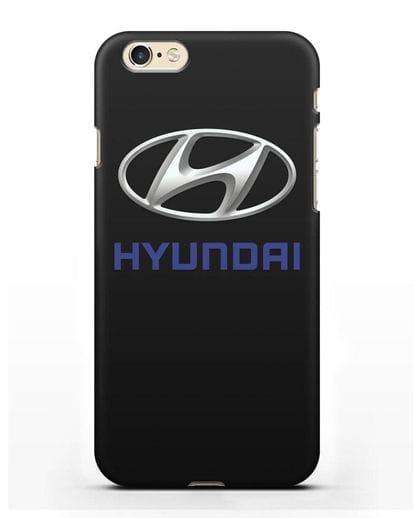 Чехол с логотипом Hyundai силикон черный для iPhone 6s