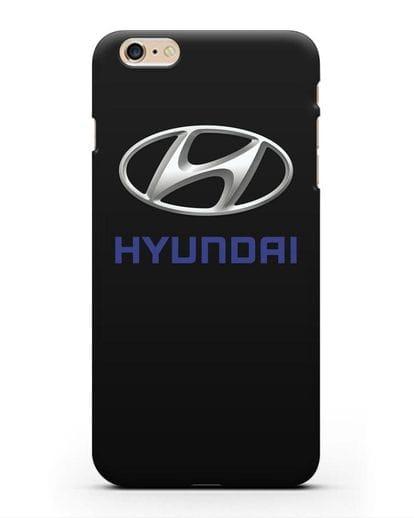 Чехол с логотипом Hyundai силикон черный для iPhone 6 Plus