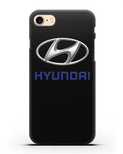 Чехол с логотипом Hyundai силикон черный для iPhone SE 2020