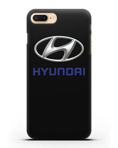 Чехол с логотипом Hyundai силикон черный для iPhone 7 Plus