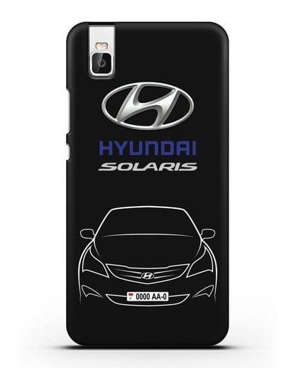 Чехол Hyundai Solaris с автомобильным номером силикон черный для Honor 7i
