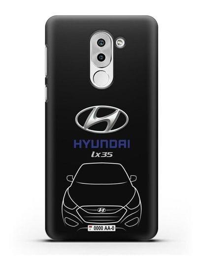Чехол Hyundai ix35 с автомобильным номером силикон черный для Honor 6X