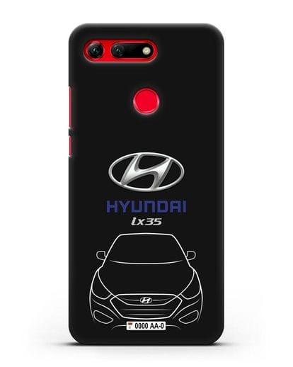 Чехол Hyundai ix35 с автомобильным номером силикон черный для Honor View 20
