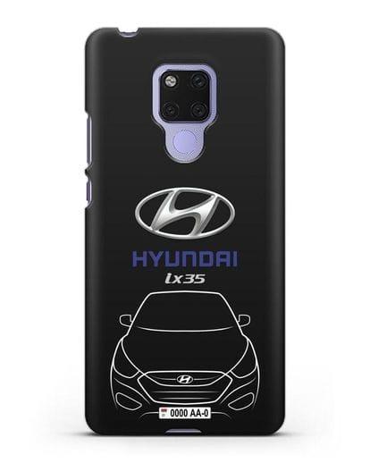 Чехол Hyundai ix35 с автомобильным номером силикон черный для Huawei Mate 20X