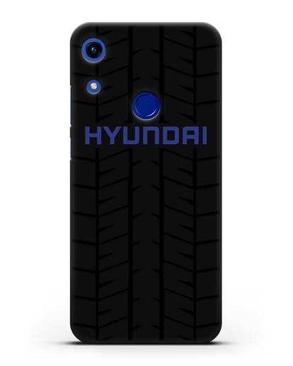 Чехол с логотипом Хёндэ с протектором шин силикон черный для Honor 8A