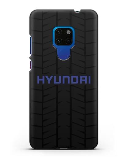 Чехол с логотипом Хёндэ с протектором шин силикон черный для Huawei Mate 20