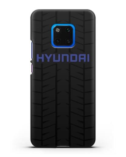 Чехол с логотипом Хёндэ с протектором шин силикон черный для Huawei Mate 20 Pro