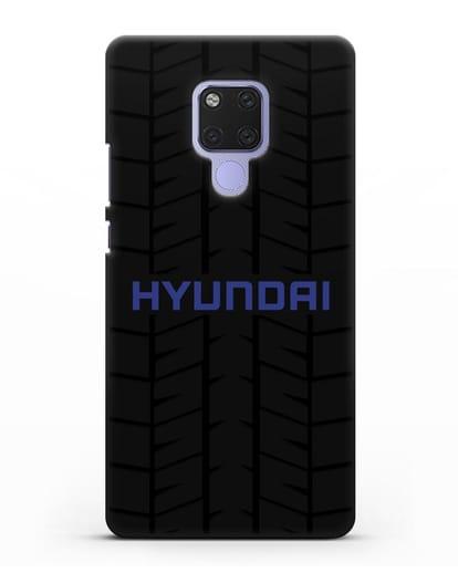 Чехол с логотипом Хёндэ с протектором шин силикон черный для Huawei Mate 20X