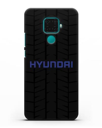 Чехол с логотипом Хёндэ с протектором шин силикон черный для Huawei Mate 30 Lite