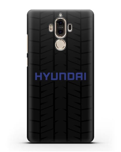 Чехол с логотипом Хёндэ с протектором шин силикон черный для Huawei Mate 9