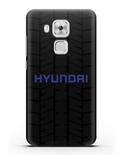 Чехол с логотипом Хёндэ с протектором шин силикон черный для Huawei Nova Plus