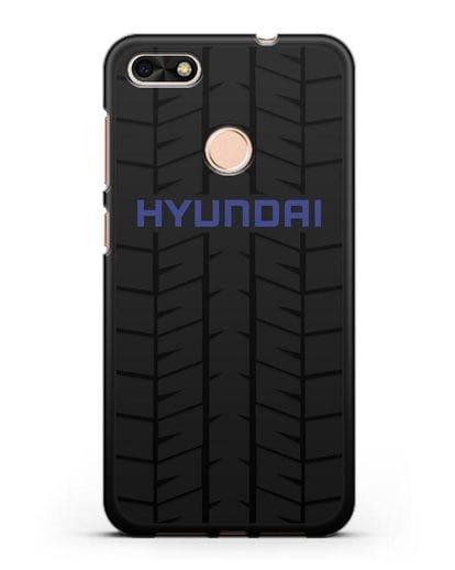 Чехол с логотипом Хёндэ с протектором шин силикон черный для Huawei P9 Lite mini