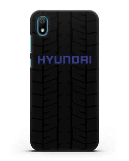 Чехол с логотипом Хёндэ с протектором шин силикон черный для Huawei Y5 2019