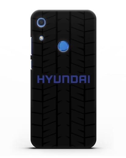 Чехол с логотипом Хёндэ с протектором шин силикон черный для Huawei Y6s