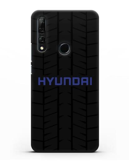 Чехол с логотипом Хёндэ с протектором шин силикон черный для Huawei Y9 Prime 2019