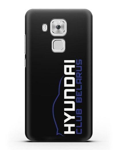 Чехол с надписью Hyundai Club Belarus силикон черный для Huawei Nova Plus